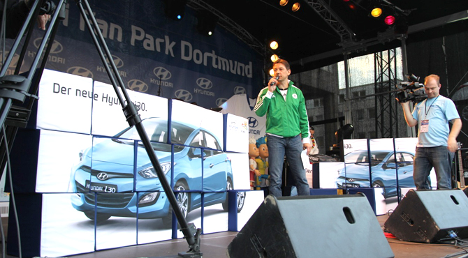 Stage program at Hyundai Fan Park Dortmund