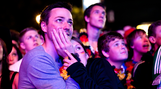 Fans enjoying sensational moments of game at Hyundai Fan Park Berlin