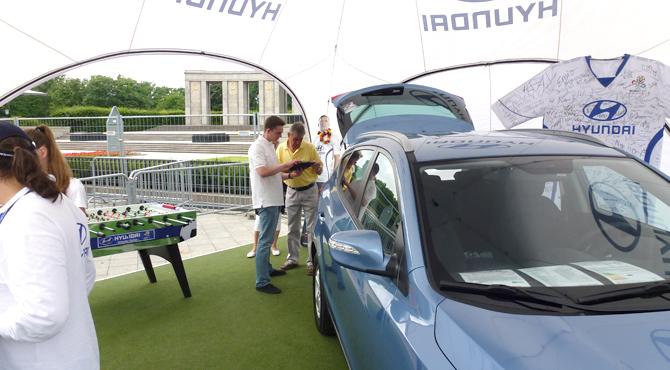 Commercial display at Hyundai Fan Park Berlin