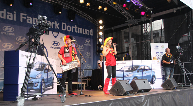 Stage performance at Hyundai Fan Park Dortmund