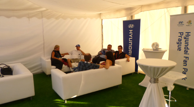 VIP Hospitality area at Hyundai Fan Park Prague