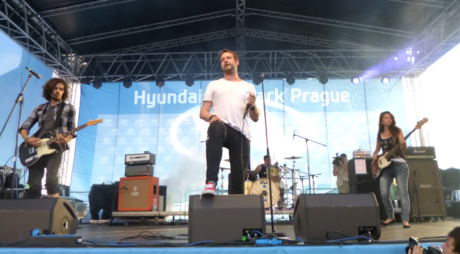 Entertainment program at Hyundai Fan Park Prague