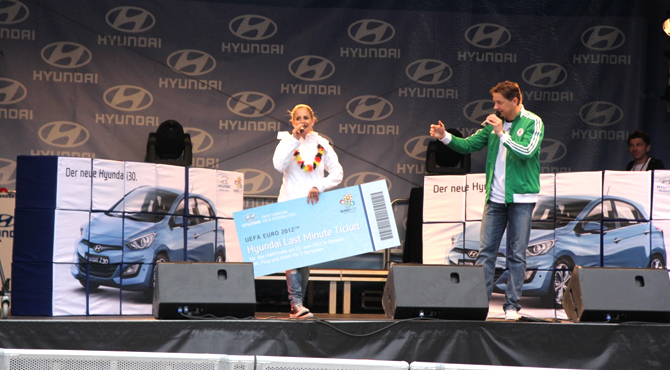 Hyundai last mile ticket campaign at Hyundai Fan Park Dortmund