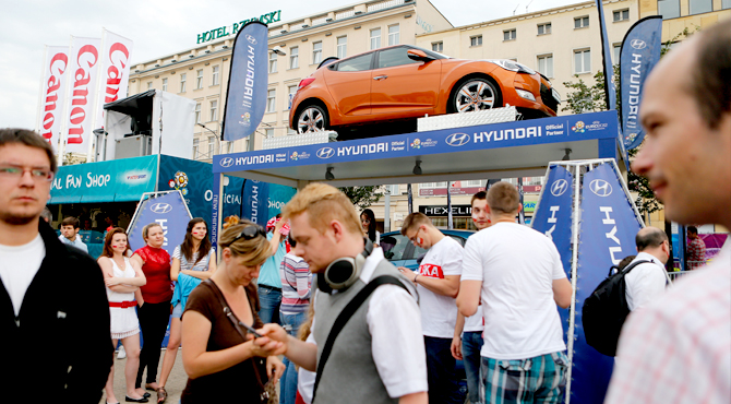 Fan Zone at Hyundai commercial display