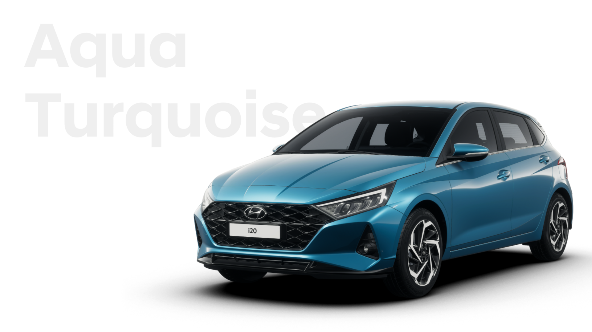 Left-front side-view of the all-new Hyundai i20 on the road