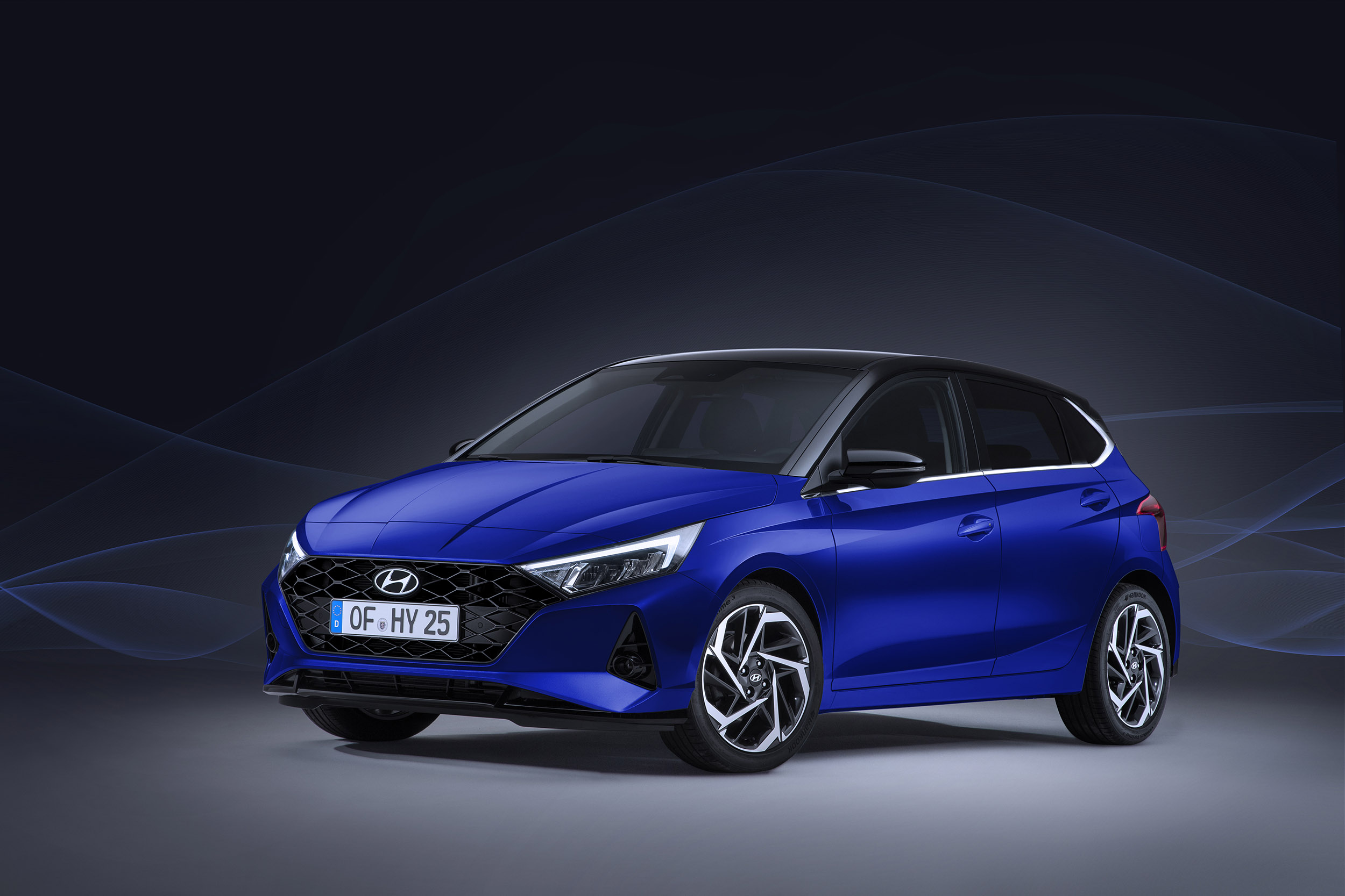 The all-new Hyundai i20 boot with the rear seats folded down.