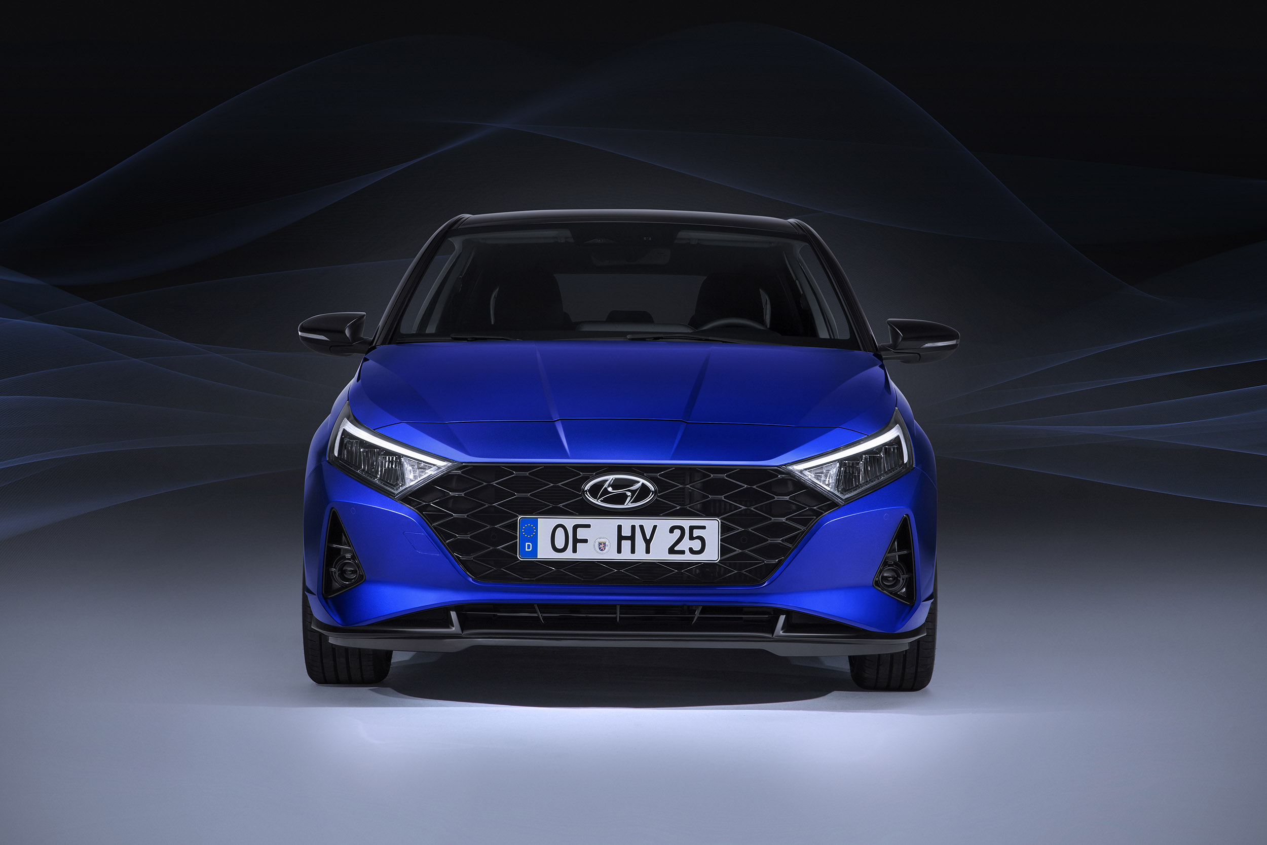 Rear view of the all-new Hyundai i20 on the road