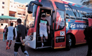 'Be There With Hyundai' selected message on South Korea National Team Bus