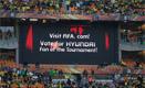 'Fan of the Tournament' - choosing the best dressed fan in the stadium