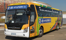South Africa National Team Bus showcasing the 'Be There With Hyundai' selected message