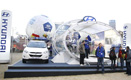 Hyundai Commercial Booth display and 'Hyundai Good Will Ball' setup