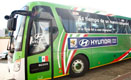 Mexico National Team Bus sporting the 'Be There With Hyundai' selected message