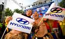Football fans at Hyundai Fan Park Madrid enjoying the World Cup Match!