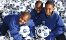 South African Children smile with 'Hyundai One Million Dream Balls for Africa'