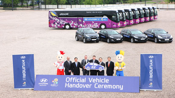 Official vehicle handover ceremony at Poland's National Stadium in Warsaw